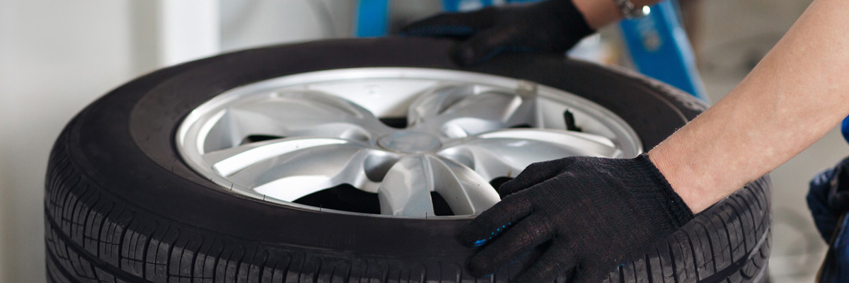 A tyre being fitted - Tyres Woodbridge